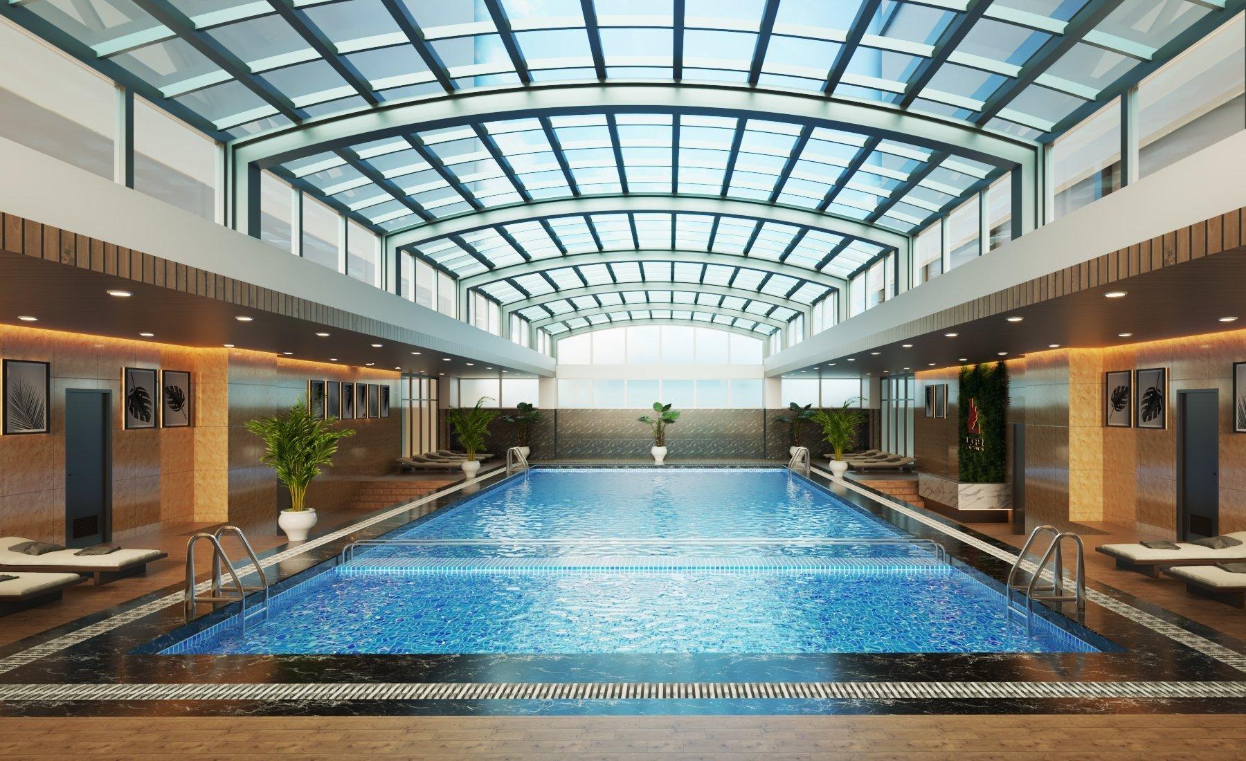 Khu vực bể bơi